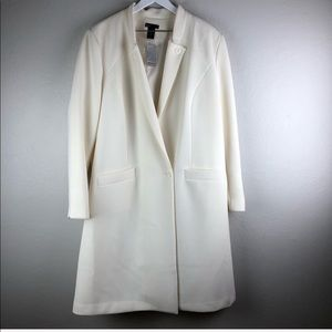 Lane Bryant Cream long winter coat size 22/24